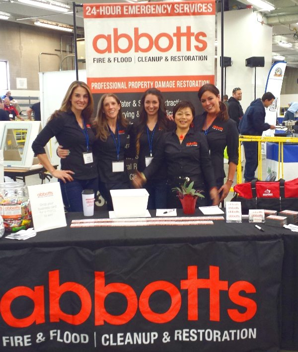 abbotts team tradeshow Abbotts Fire and Flood Colorado