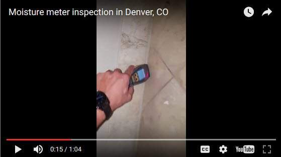 Moisture Meter Inspection in Denver, CO Abbotts Fire and Flood Colorado
