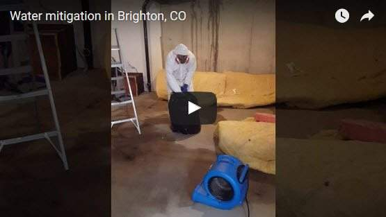 water damage leads to removal of insulation Abbotts Fire and Flood Colorado