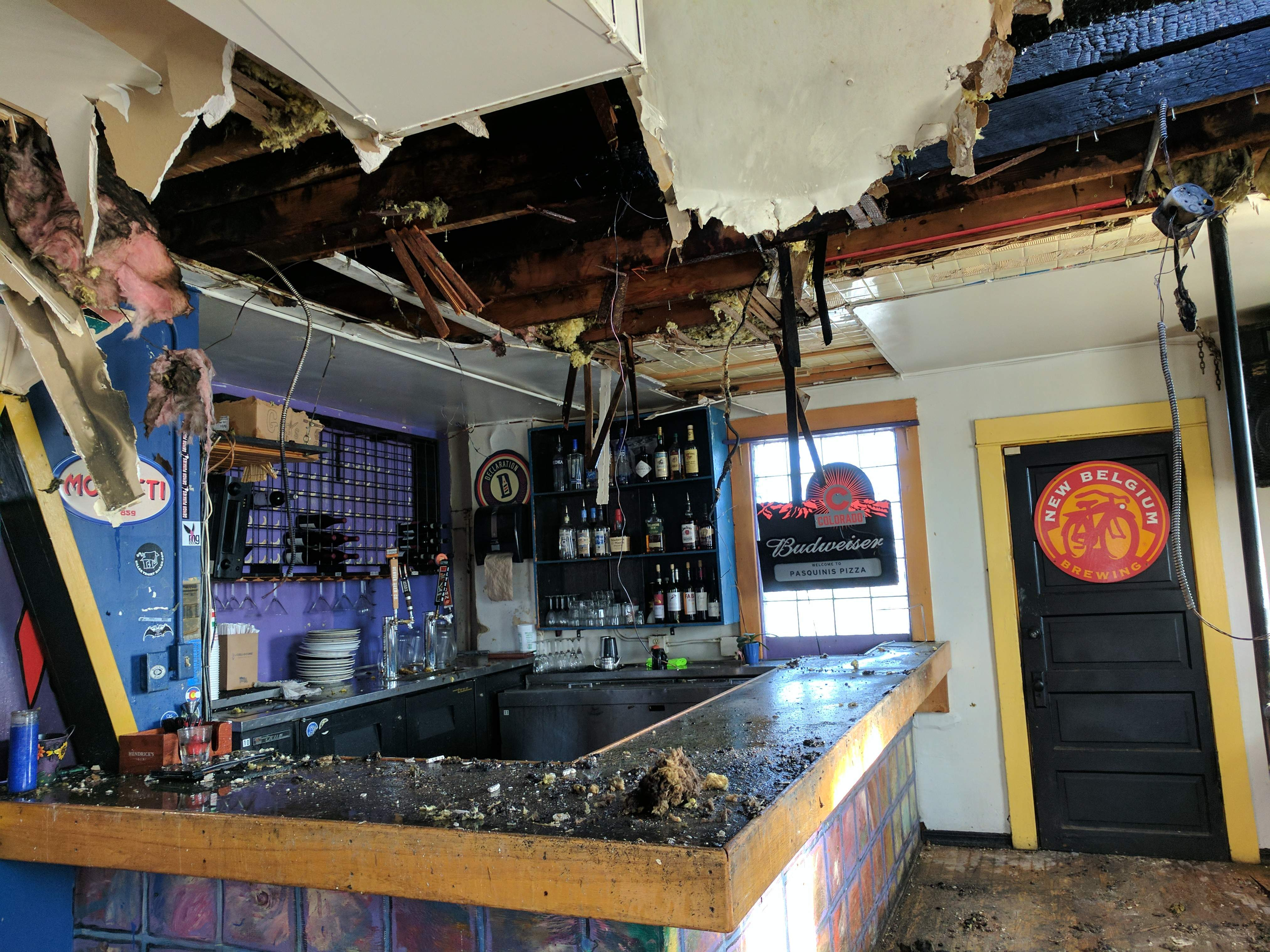 Pasquini's Fire Damage Abbotts Fire and Flood Colorado