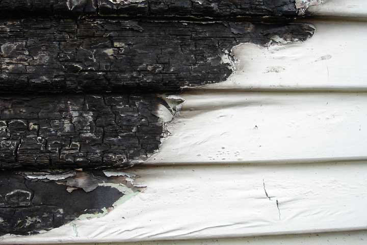 fire damage on exterior of house Abbotts Fire and Flood Colorado